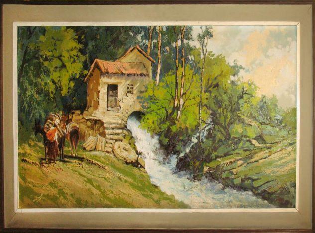 Molino de Sacaba Canvas Oil Landscaping