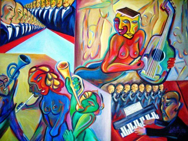 CONCIERTO MUSICAL Óleo Lienzo Otros