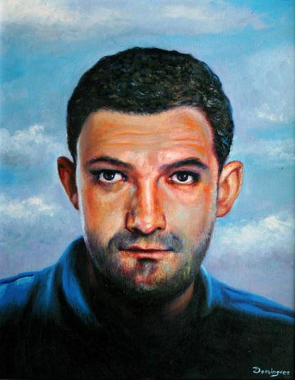 MI CUÑADO JAVIER Óleo Tabla Retrato