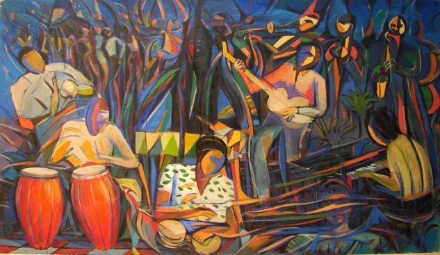 latin jazz Óleo Lienzo Figura
