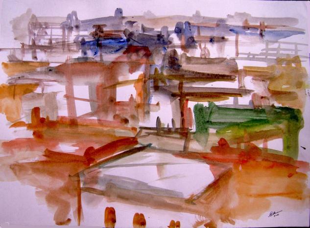 old city-8 Acrílico Papel Otros