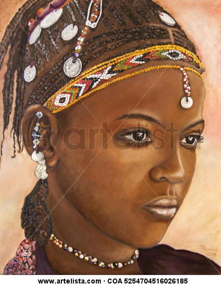 AFRICA Otros Óleo Retrato