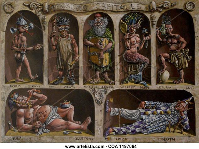 Pecados Capitales Others Acrylic Canvas