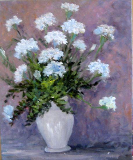 Claveles Lienzo Óleo Floral