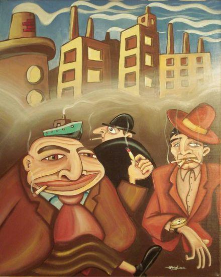 planeta hummo (sección fumadores) Acrílico Lienzo Otros