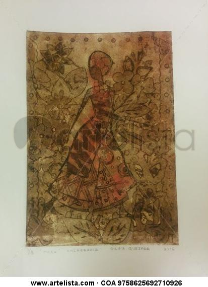 Raza  (Mujer) Colografía