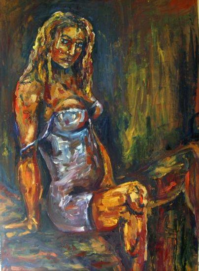 Afrodita Óleo Tabla Desnudos