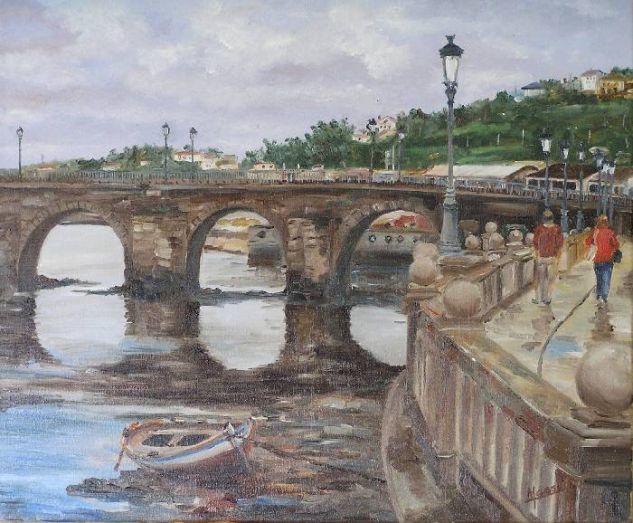 Puente de Viveiro Lienzo Óleo Paisaje