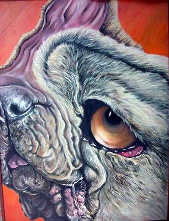 amorfis canis (serie) Óleo Lienzo Animales