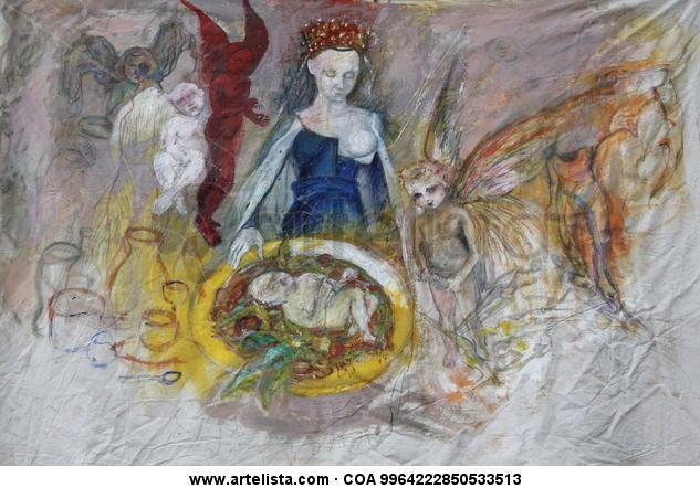 Madona de Fouquet Lienzo Acrílico Retrato
