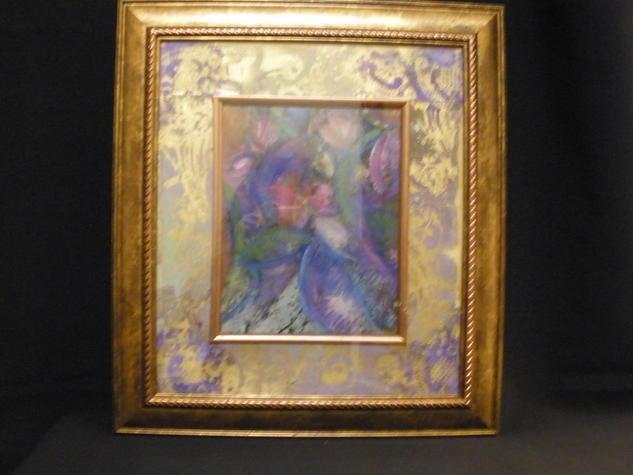 El Centro de la Flor/The center of the flower Paper Mixed media Floral Painting
