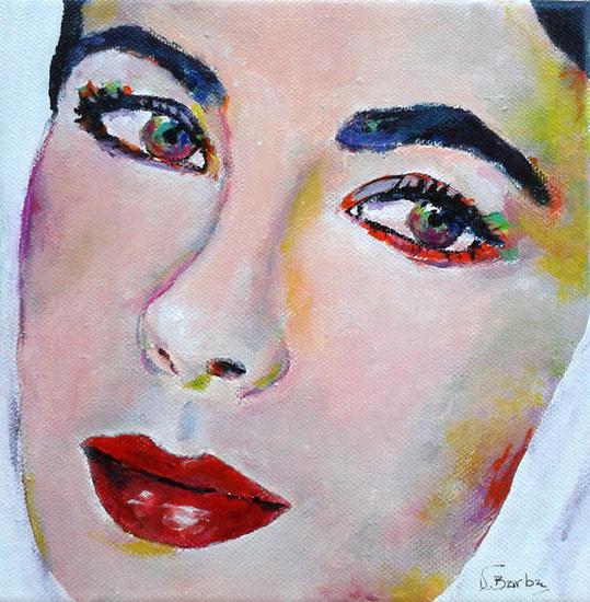 Elisabet Lienzo Acrílico Retrato