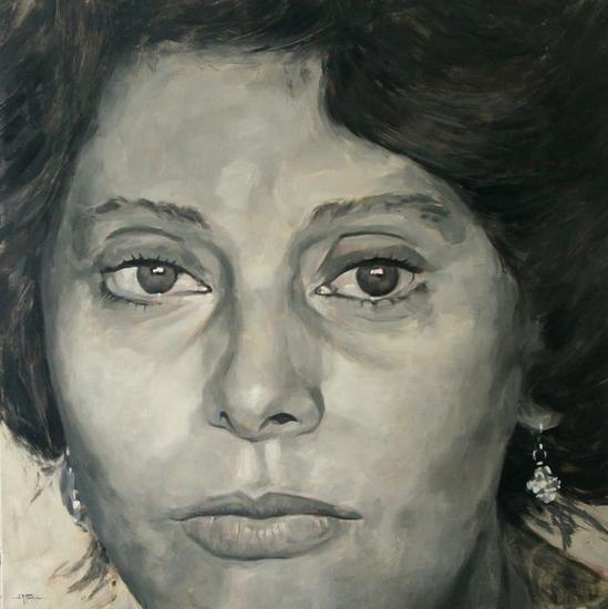 Sofia Loren Lienzo Óleo Retrato