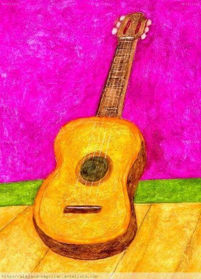 Guitarra Media Mixta Otros Figura