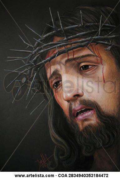 Cristo coronado de espinas Lápiz