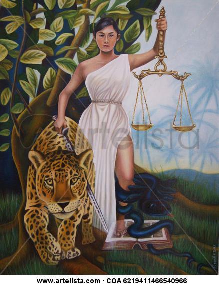 Espíritus de la Justicia Lienzo Acrílico Figura