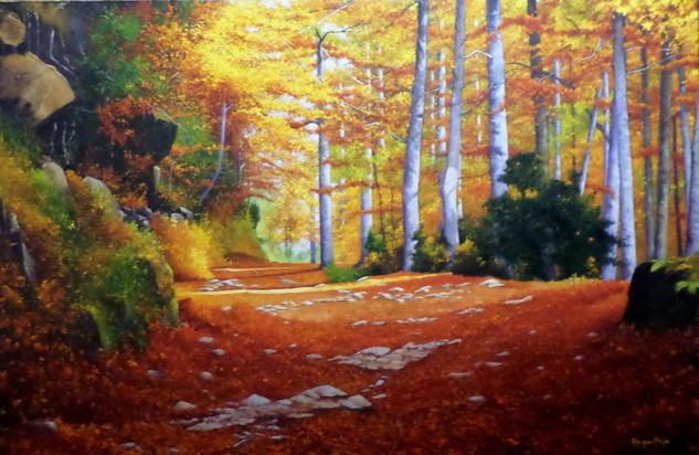 Resplandor de Otoño Canvas Oil Landscaping