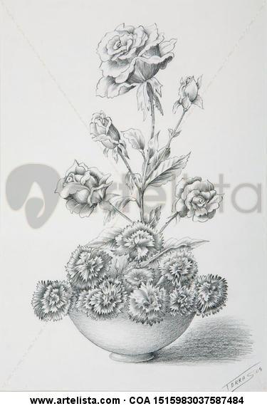 Floral Lápiz