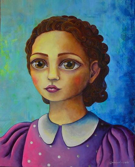 Retrato Lienzo Acrílico Figura