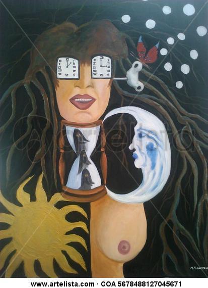 AUTORRETRATO Portrait Oil Canvas