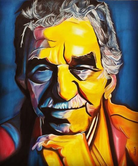 Retrato de Gabriel García Márquez Retrato Óleo Lienzo