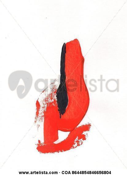 Negro y rojo Cartulina Acrílico Otros