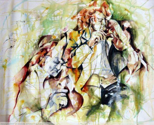 violinistas Óleo Tela Figura