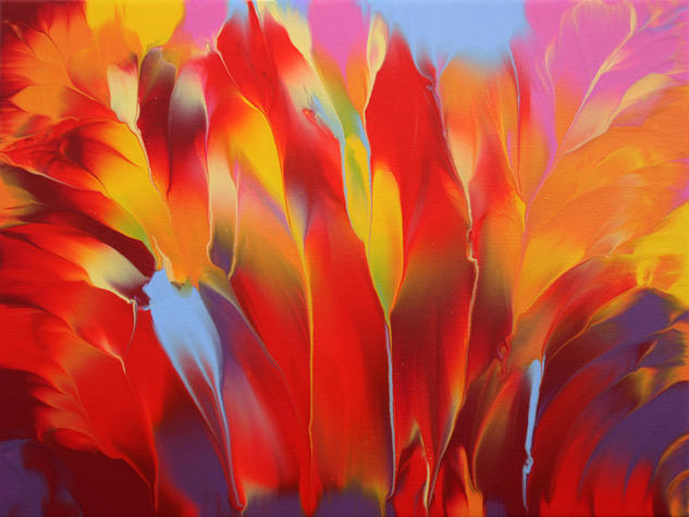 Fantasy N. 4 Lienzo Acrílico Floral