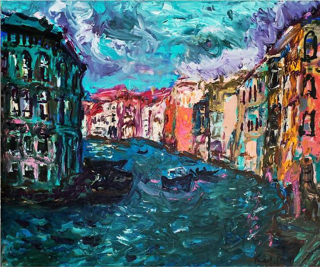 Venice. The Sun and Wind. Lienzo Óleo Paisaje