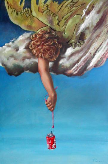 LA CHISPA DE LA VIDA; THE SPARK OF THE LIFE Figure Painting Oil Canvas