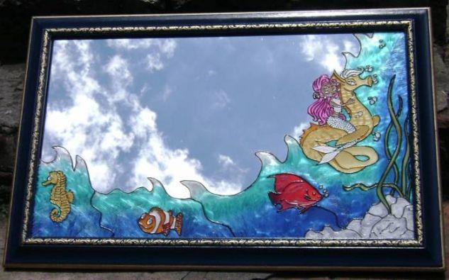 Sirena Cristal De vidriera Animales