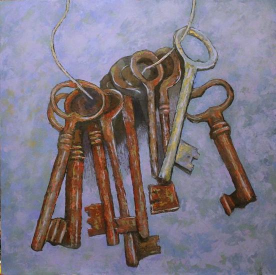 Las llaves del cielo Tabla Óleo Bodegones