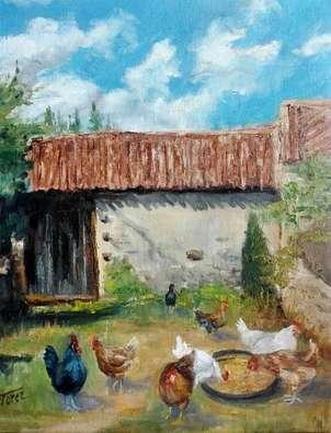 en una casa del pueblo