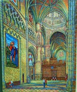 interior catedral de burgos