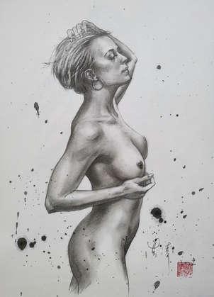 DRAWING- nude girl #2029