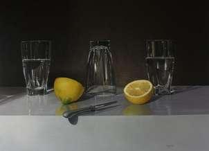 vasos con limones