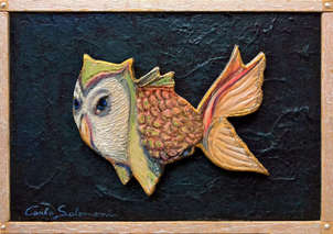 el pez buho - ( listo para colgar )