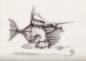 el pez guerrero - ( dibujo )