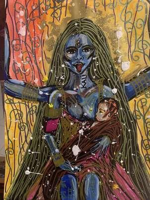 Diosa Kali  en alerta