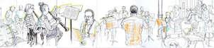 Dibujando en la Escuela de Música de Bilbao