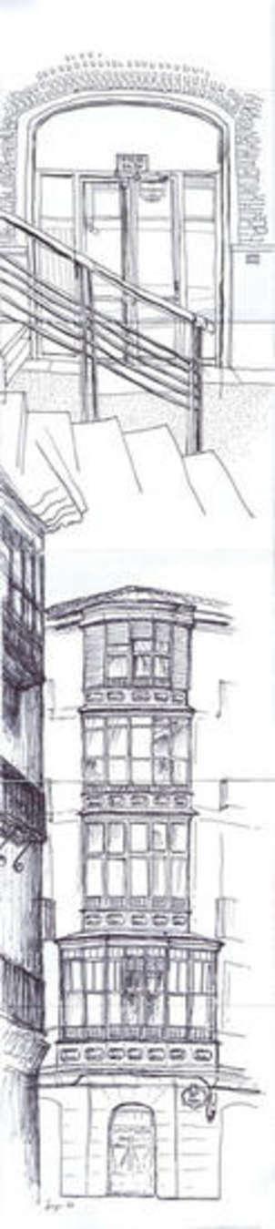 Edificio en la calle del Perro y Bilbaoarte