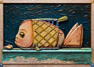 el pez tostadora - (enmarcado, 3d efecto)