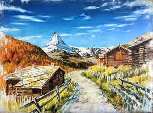 Cervino desde Zermatt. Cuadros originales online