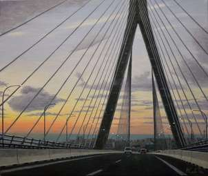 Puente constitucion cadiz al fondo