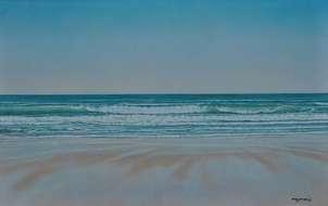 bajamar en la playa de la barrosa