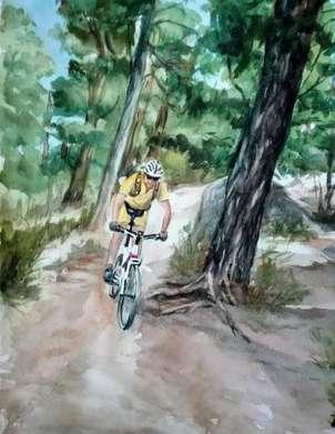 pedaleando por la sierra