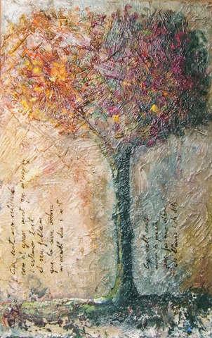 Árbol con poema
