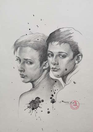 Drawing-Portrait of men#210411