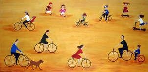 cyclists - ciclistas