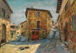 Urroz Villa, Navarra. Cuadro para dormitorio matrimonio